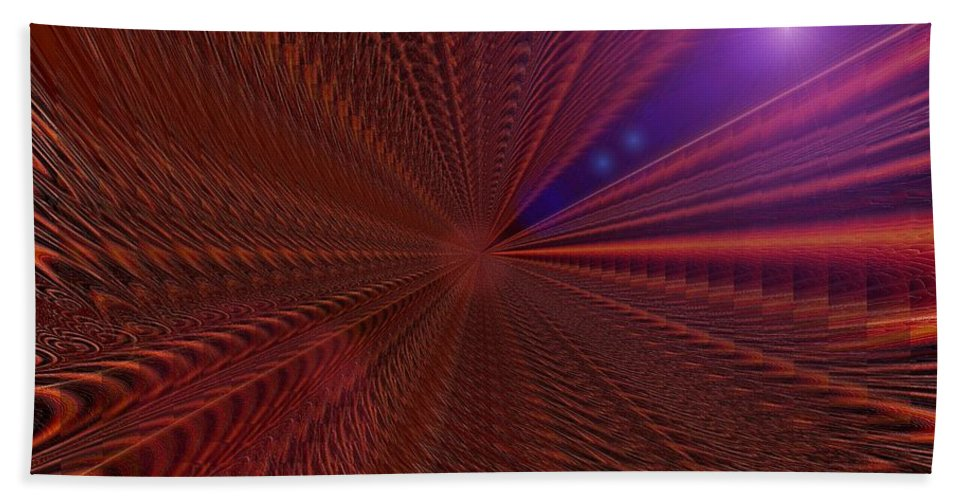 Digital Beach Towel featuring the photograph In Warp by Jeff Swan