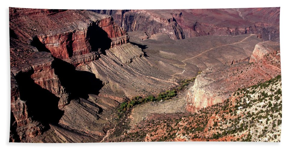 Usa Beach Towel featuring the photograph Indian Gardens In The Grand Canyon by Aidan Moran