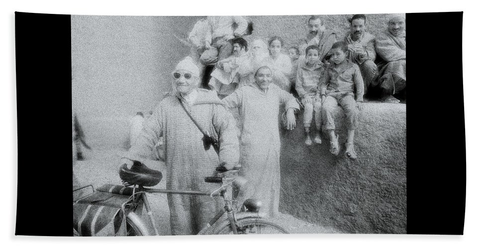 Individuality Beach Towel featuring the photograph The Cyclist by Shaun Higson