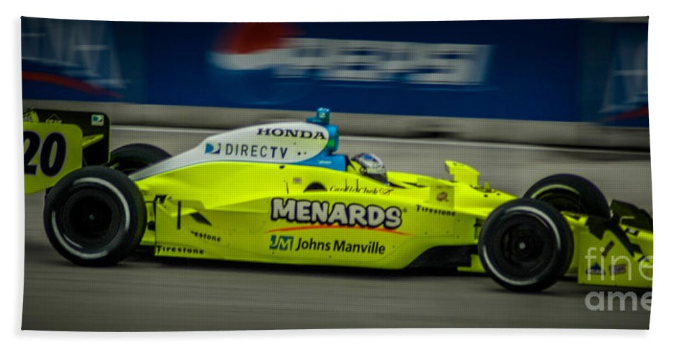 Indy Car Beach Towel featuring the photograph Indy Car 20 by Ronald Grogan