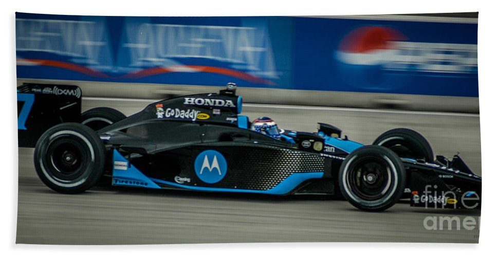 Indy Car Beach Towel featuring the photograph Indy Car 7 by Ronald Grogan