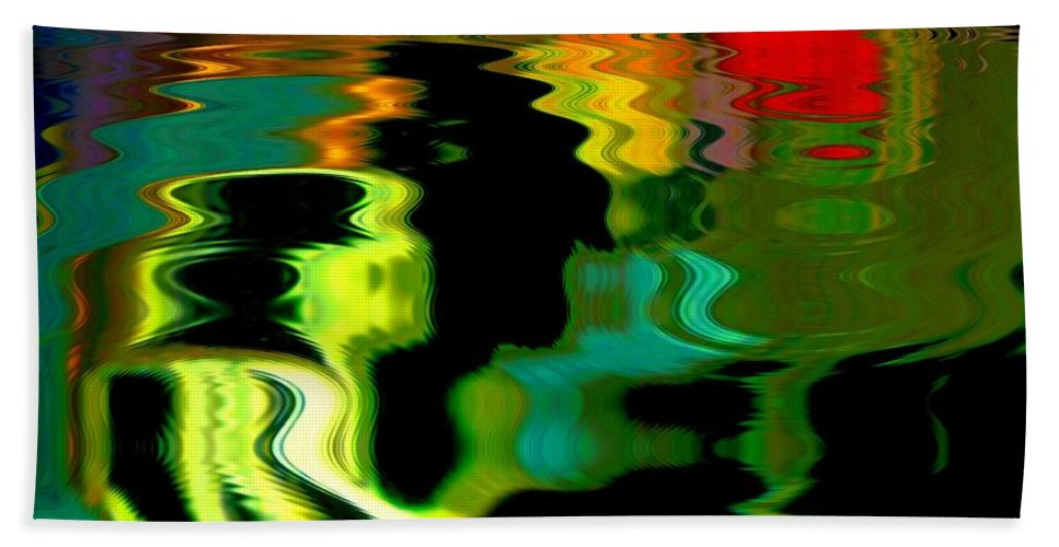 Abstract Beach Towel featuring the photograph Infinity Rainbow River 1 by Cj Carroll