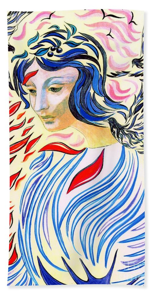 Love Beach Towel featuring the painting Inner Peace by Jane Small
