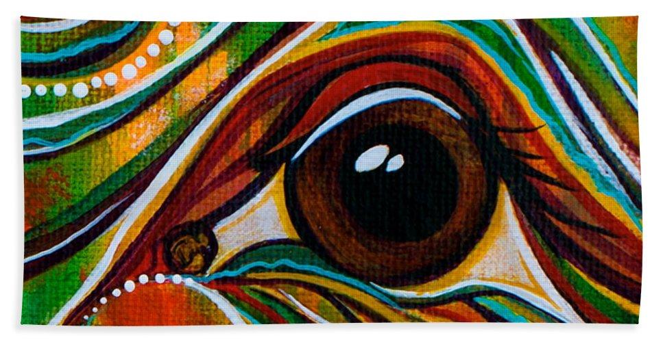 Deborha Kerr Beach Towel featuring the painting Inner Strength Spirit Eye by Deborha Kerr
