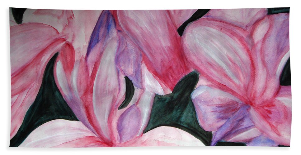 Flower Water Color Abstract Beach Towel featuring the painting Innocence by Yael VanGruber