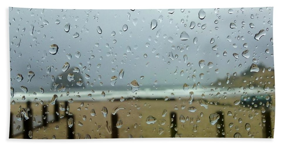 Rainy Day At The Beach Beach Towel featuring the photograph Inside Warmth by Susan Garren