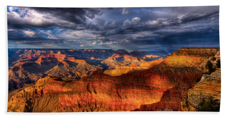 Grand Canyon Beach Towel featuring the photograph Inspiration by Beth Sargent