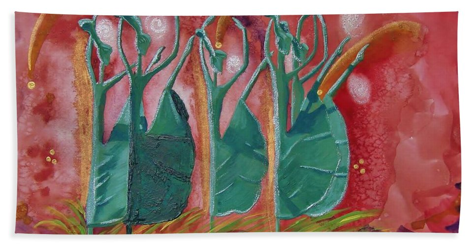 Dance Beach Towel featuring the painting Inspired Dance by Margaret Bobb
