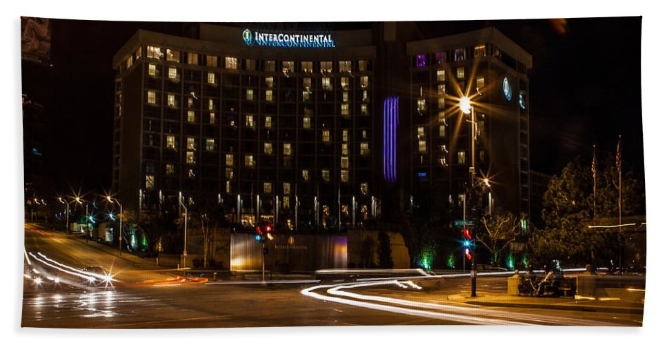 Slow Speed Beach Towel featuring the photograph Intercontinental Hotel by Sennie Pierson