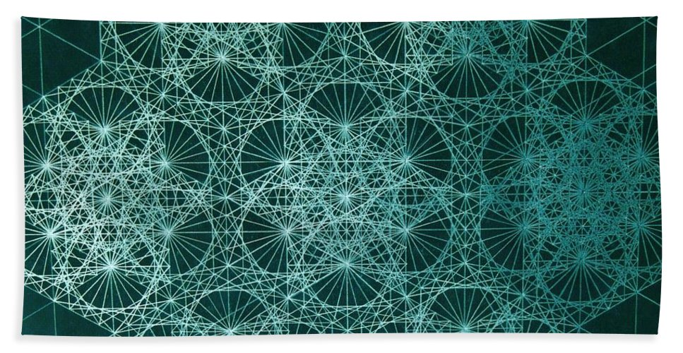 Jason Beach Towel featuring the drawing Interference by Jason Padgett