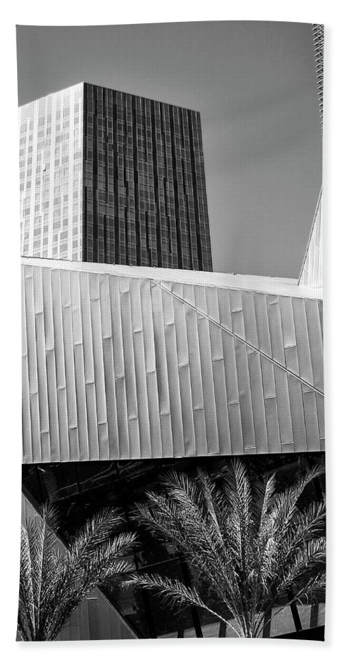 Vegas Beach Towel featuring the photograph Intersection 2 Bw Las Vegas by William Dey