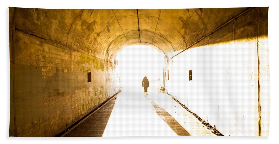 John Daly Beach Towel featuring the photograph Into The Light by John Daly