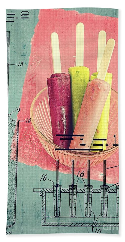 Popsicle Beach Towel featuring the photograph Invention Of The Ice Pop by Edward Fielding