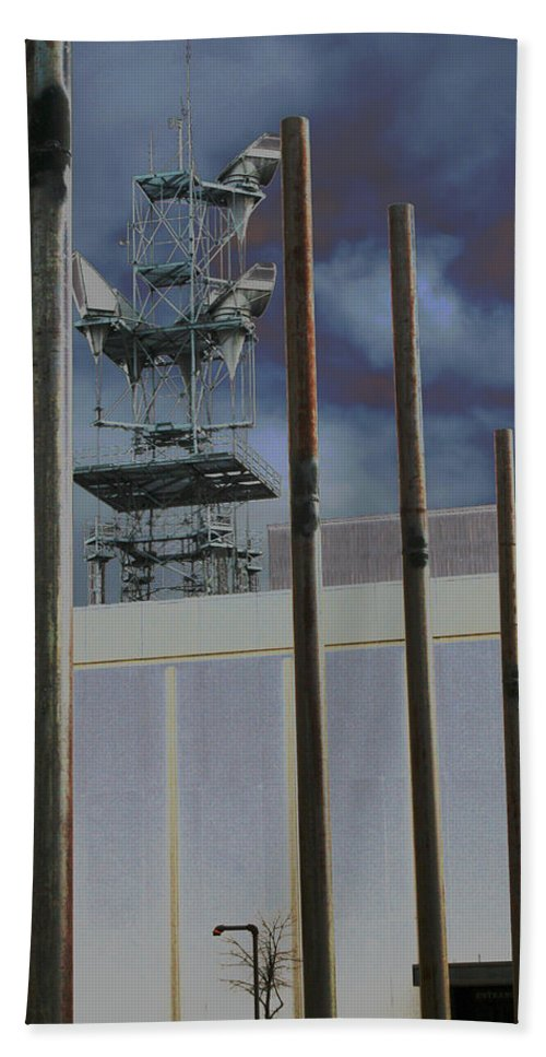 Industrial Beach Towel featuring the photograph Invisible Industry by Ric Bascobert