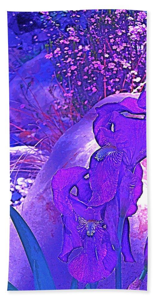 Flowers Beach Towel featuring the photograph Iris 2 by Pamela Cooper