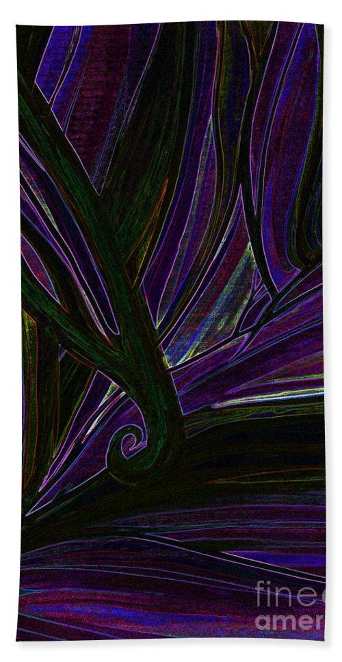 First Star Art Beach Towel featuring the mixed media Iris by First Star Art