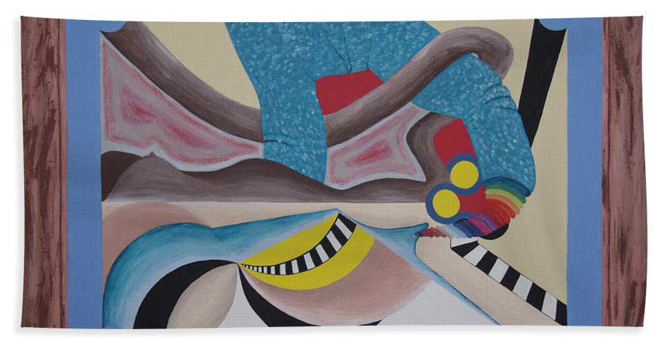 Expressionism Beach Towel featuring the painting Irreconcilable Differences by Dean Stephens