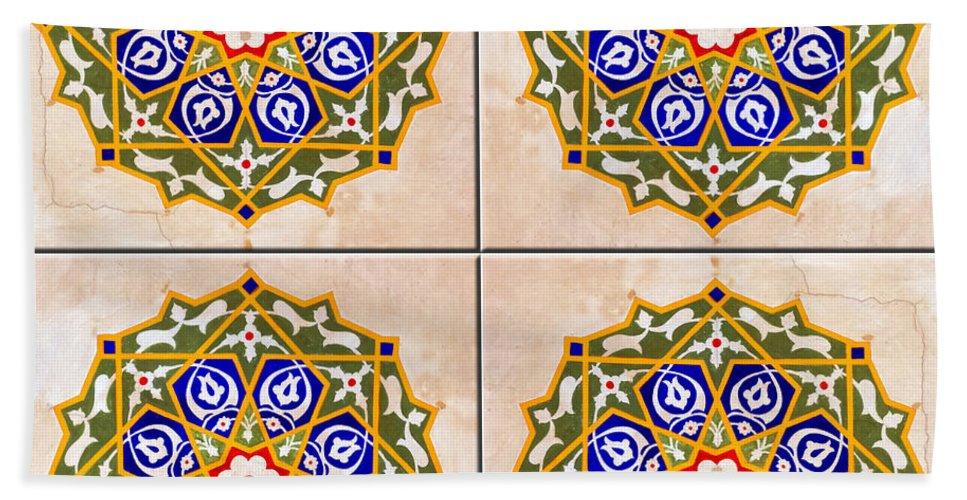 Ceramic Beach Towel featuring the photograph Islamic Tiles 03 by Antony McAulay