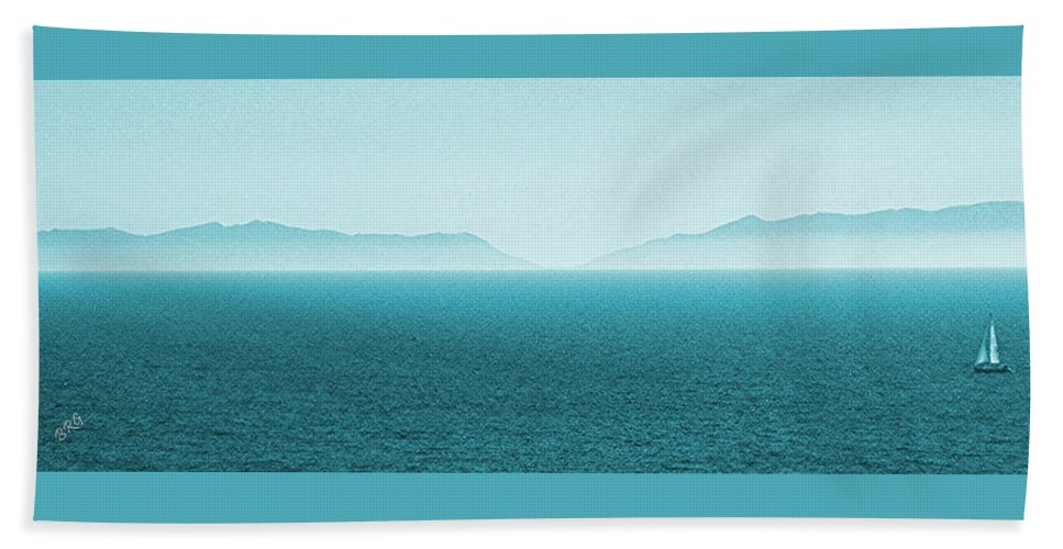 Seascape Beach Towel featuring the photograph Island by Ben and Raisa Gertsberg