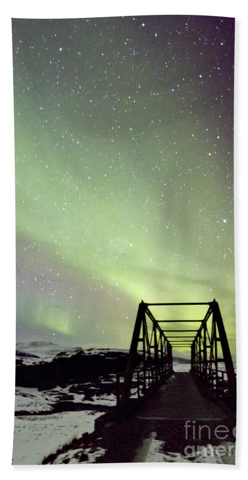 Aurora Beach Towel featuring the photograph It Came Upon A Midnight Clear by Evelina Kremsdorf