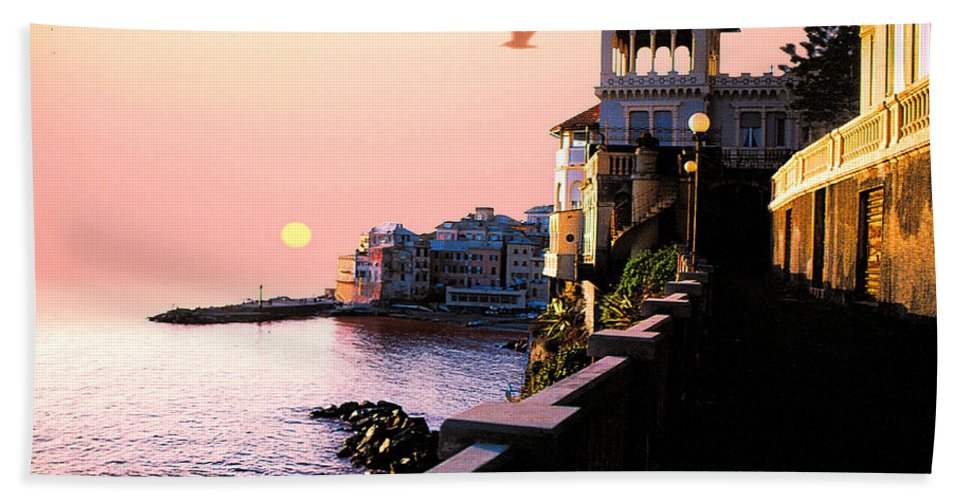 Italy Beach Towel featuring the photograph Italian Riviera by Stephen Edwards