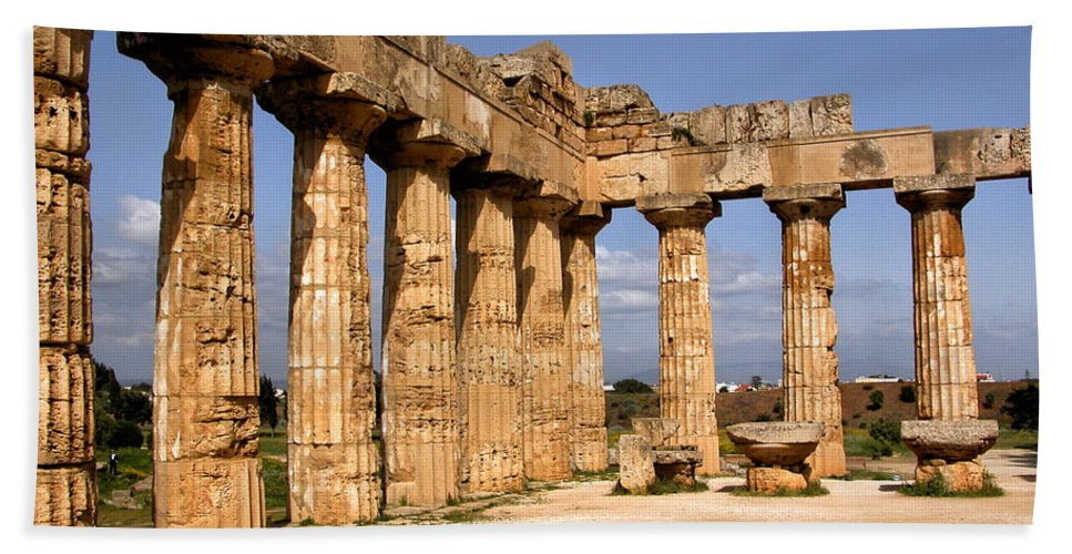 Italy Beach Towel featuring the photograph Italian Ruins 2 by Timothy Hacker