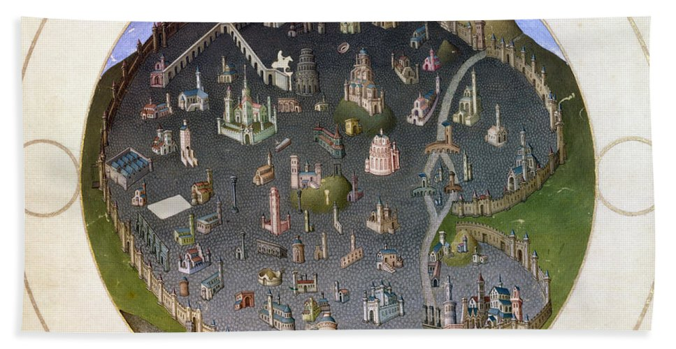 15th Century Beach Towel featuring the photograph Italy: Rome, 15th Century by Granger