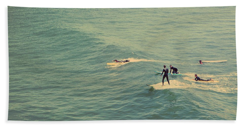 Santa Cruz Beach Towel featuring the photograph It's The Ride by Laurie Search