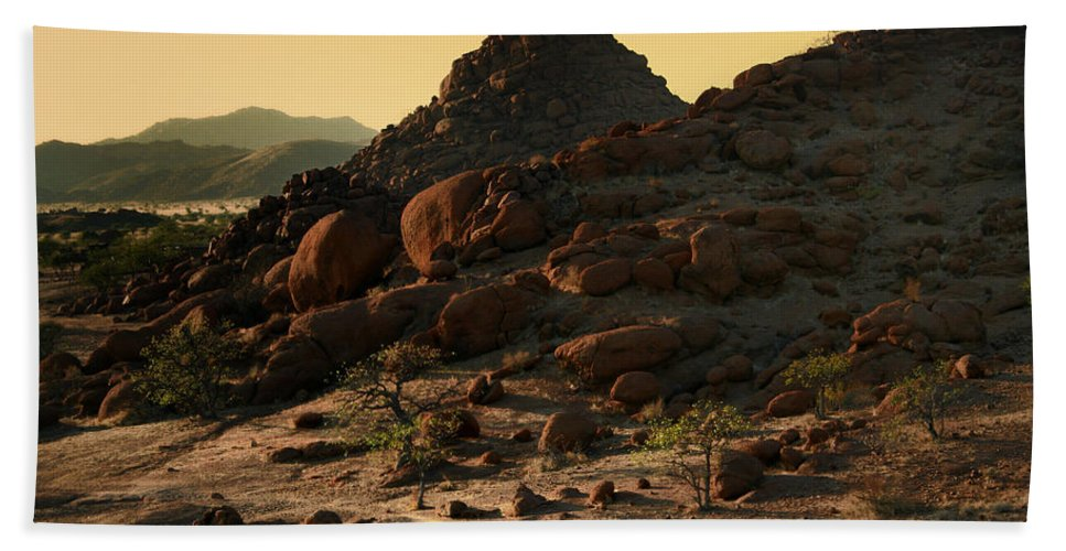 Namibia Beach Towel featuring the photograph Iwanna Rock by A Rey