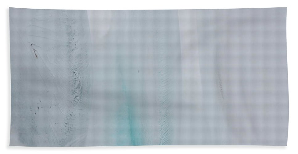 Gray Beach Towel featuring the photograph Jammer Abstract Blueness 001 by First Star Art