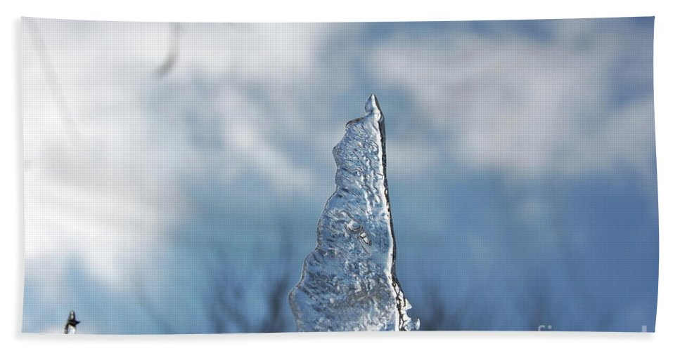 Gray Beach Towel featuring the photograph Jammer Ice Sail 001 by First Star Art