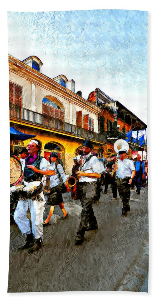 French Quarter Beach Towel featuring the photograph Jazz Funeral II by Steve Harrington