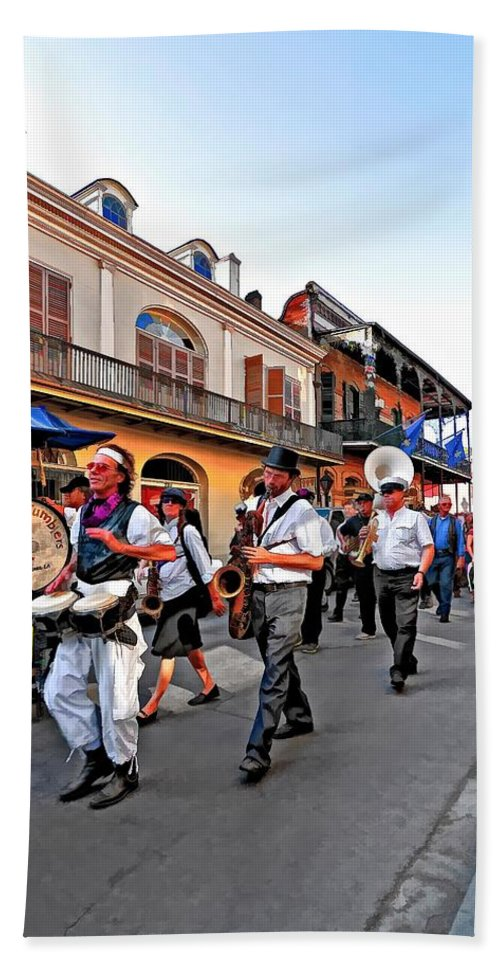French Quarter Beach Towel featuring the photograph Jazz Funeral by Steve Harrington