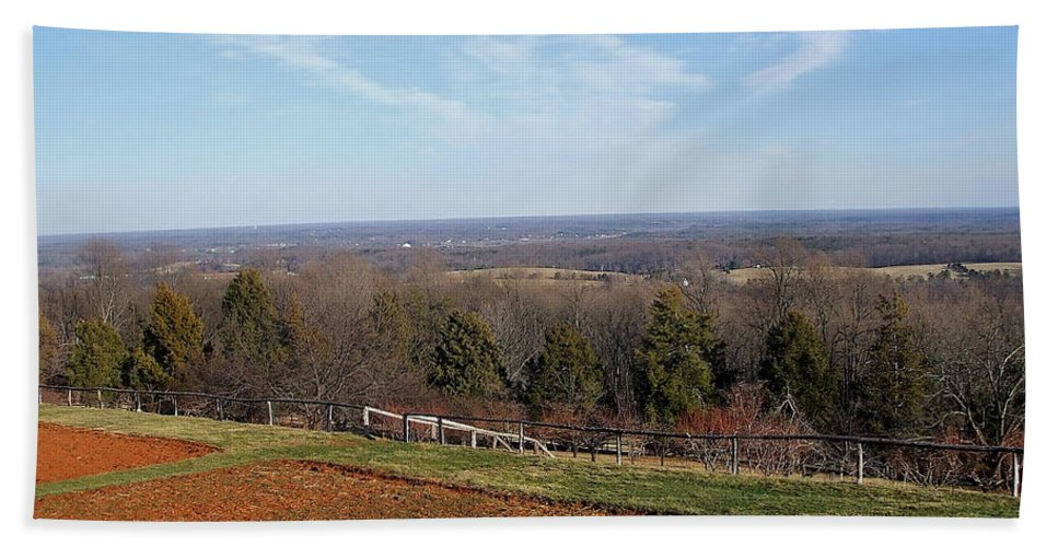 Heights Beach Towel featuring the photograph Jefferson's View From Monticello by Susan Wyman