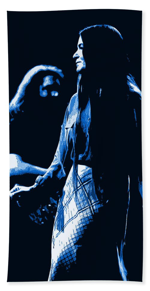 Jerry Garcia Beach Towel featuring the photograph Jerry And Donna Blues 1978 by Ben Upham