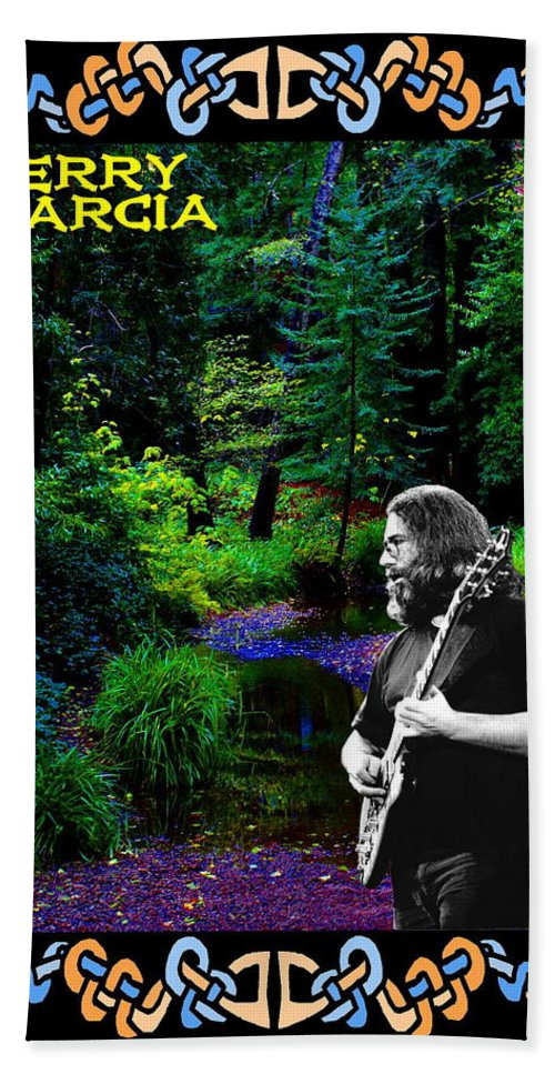Jerry Garcia Beach Towel featuring the photograph Jerry At Psychedelic Creek by Ben Upham
