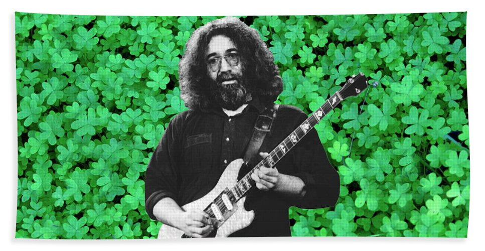 Jerry Garcia Beach Towel featuring the photograph Jerry Clover 1 by Ben Upham