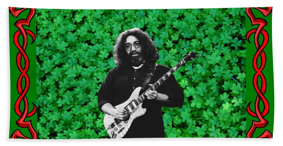 Jerry Garcia Beach Towel featuring the photograph Jerry Clover 3 by Ben Upham