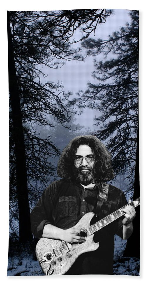 Jerry Garcia Beach Towel featuring the photograph Jerry Cold Rain And Snow by Ben Upham