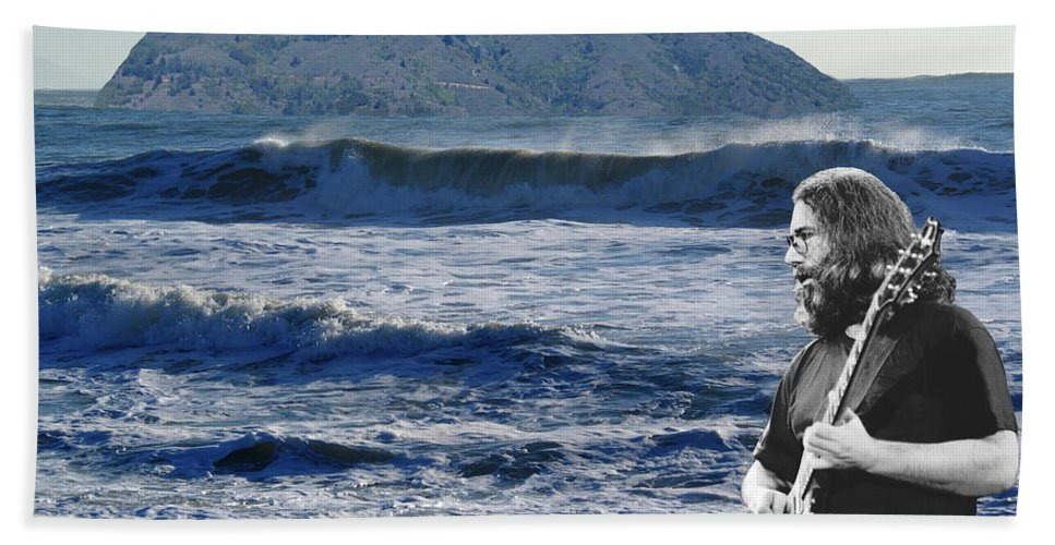Grateful Dead Beach Towel featuring the photograph Jerry Garcia At Mt Tamalpaisland 2 by Ben Upham III