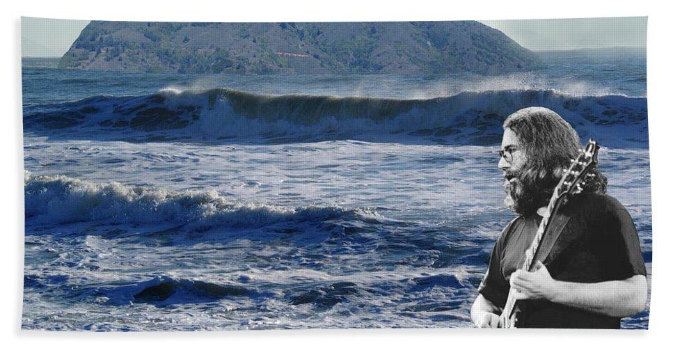 Grateful Dead Beach Towel featuring the photograph Jerry Garcia At Mt Tamalpaisland 3 by Ben Upham