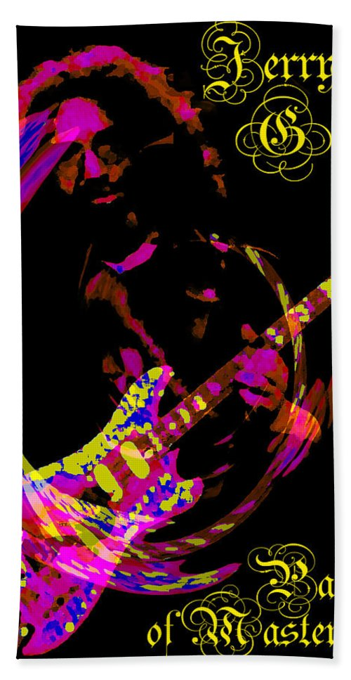 Jerry Garcia Beach Towel featuring the photograph Jerry Garcia Painter Of Masterpieces by Ben Upham III