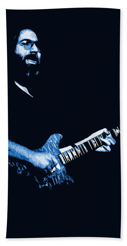 Jerry Garcia Beach Towel featuring the photograph Jerry Sings The Blues 1978 by Ben Upham