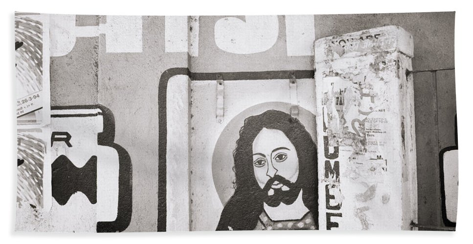 Asia Beach Towel featuring the photograph Jesus In Mumbai by Shaun Higson
