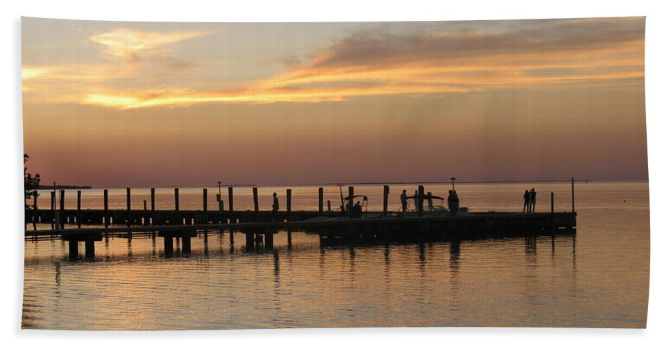 Evening Beach Towel featuring the photograph Jetty In The Eveninglight by Christiane Schulze Art And Photography