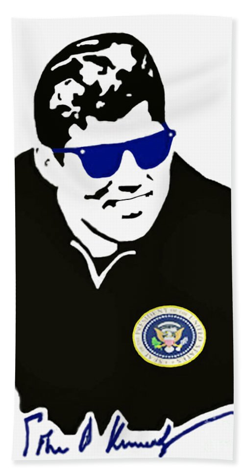 Jackie Beach Towel featuring the photograph John F Kennedy Signature Wayfarer by Jost Houk