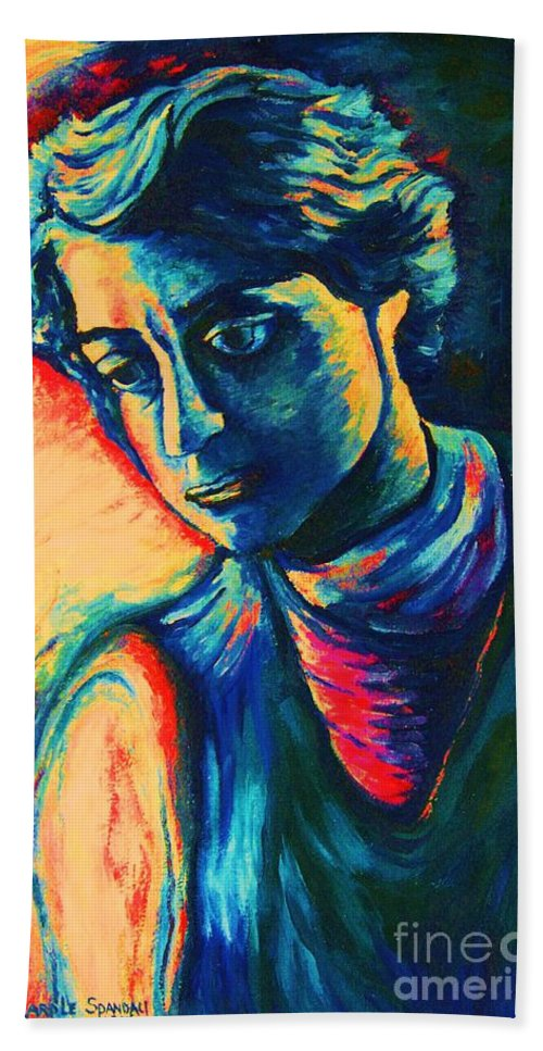 Joseph From The Bible Beach Towel featuring the painting Joseph The Dreamer by Carole Spandau