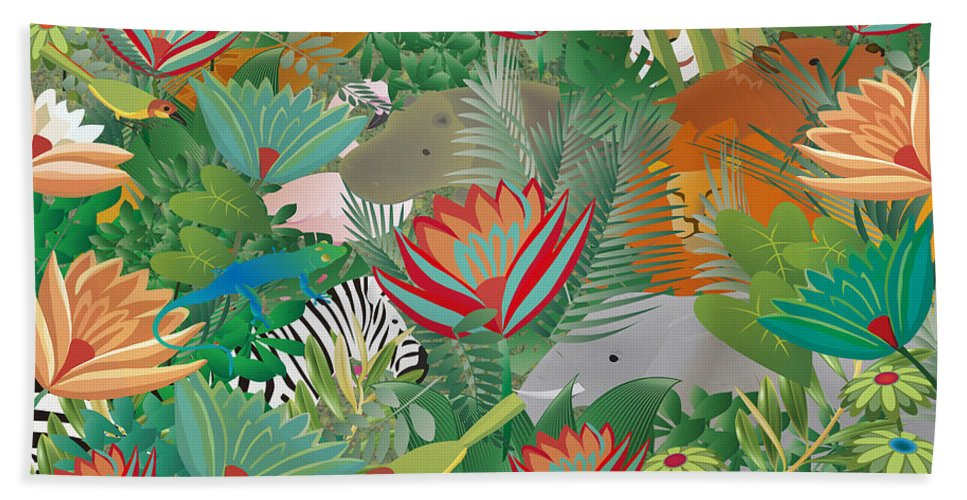 Joy Of Nature Beach Towel featuring the mixed media Joy Of Nature Limited Edition 2 Of 15 by Gabriela Delgado