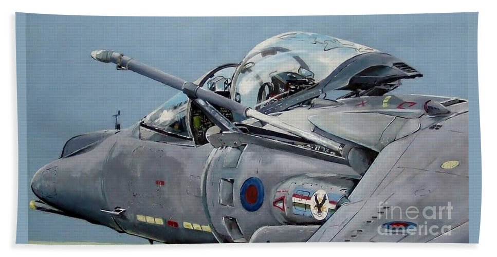 Aircraft Beach Towel featuring the painting Jump by Terence R Rogers