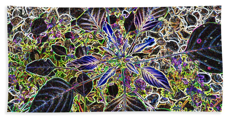 Weed Beach Towel featuring the digital art Just A Weed by Lovina Wright